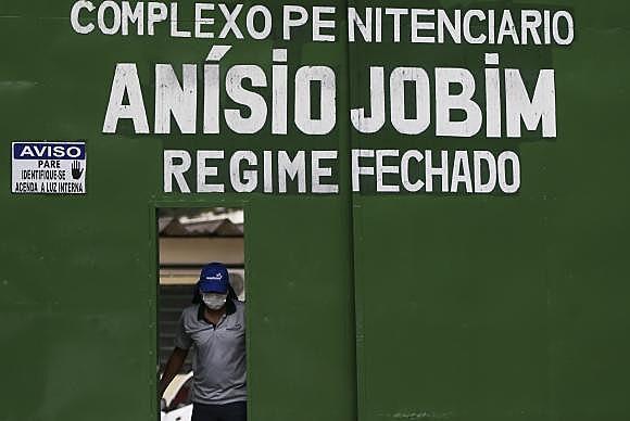 Portão principal do Complexo Penitenciário Anísio Jobim (Compaj), na capital amazonense