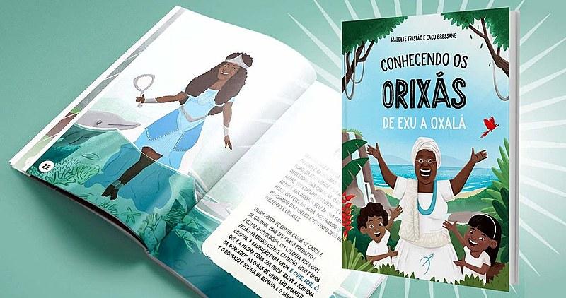 """""""Conhecendo os Orixás: de Exu a Oxalá"""" é a porta de entrada para a coleção """"O Livro dos Orixás para Crianças"""", da Arole Cultural"""
