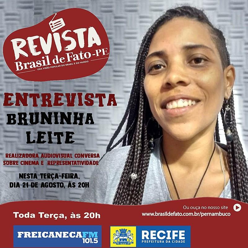 Bruninha Leite destacou as possibilidades populares e militantes com o audiovisual