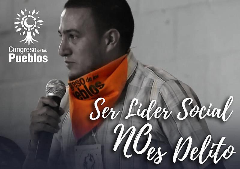 Julián Andrés Gil Reyes é secretário técnico e membro da comissão internacional do Congresso dos Povos