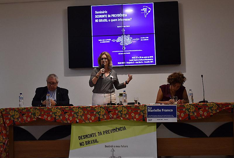Seminário realizado em Brasília discute a reforma da Previdência, proposta pelo governo Jair Bolsonaro (PSL)