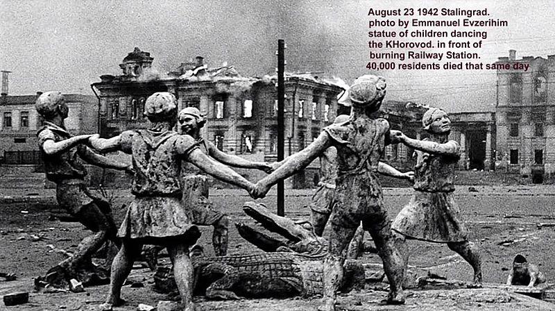 foto histórica em Stalingrado
