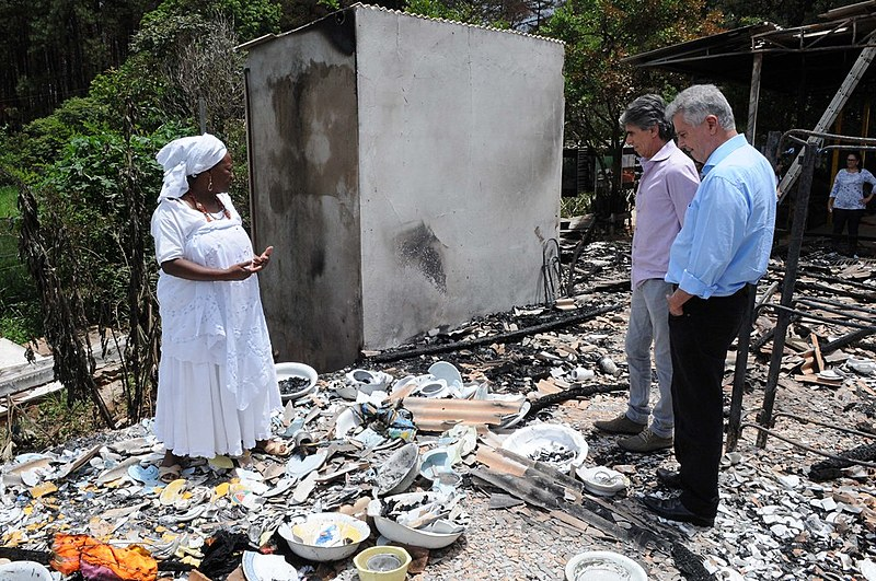 Em 2015, terreiro de candomblé Axé Oyá Bagan, localizado em Brasília (DF), foi atacado e incendiado