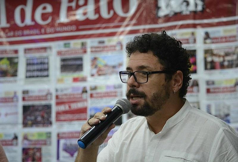 O vereador Ivan Moraes também participou da festa de 2 anos do Brasil de Fato Pernambuco