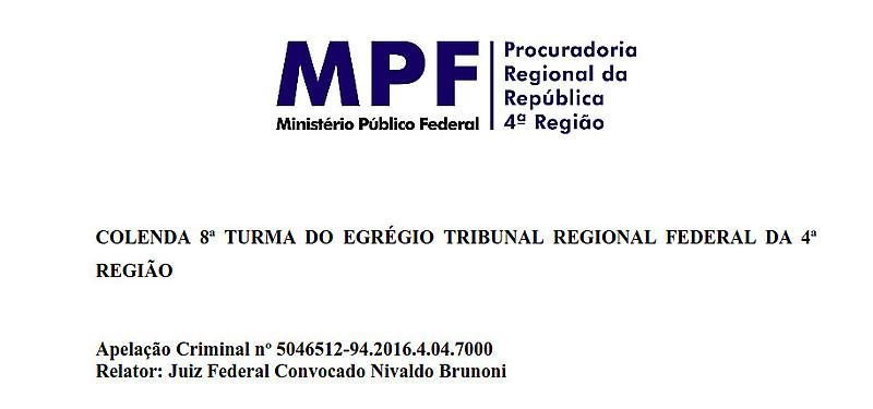 Cabeçalho da comunicação digital do MPF divulgada pelo El País Brasil