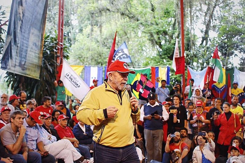 Ex-presidente Lula realiza fala em apoio ao MST em ato na Escola Nacional Florestan Fernandes