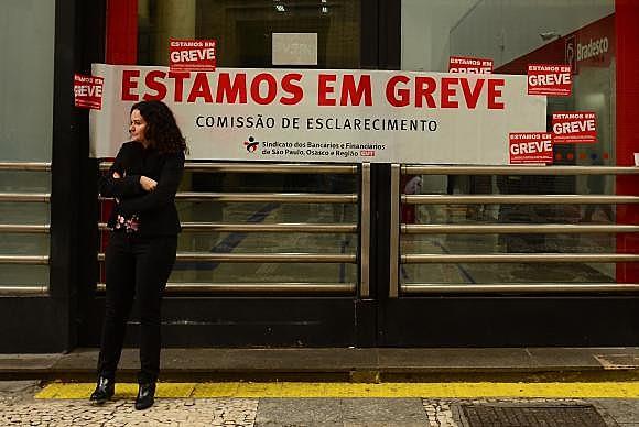 """""""Nossas reivindicações podem ser atendidas pelo setor mais lucrativo do país"""", diz a presidenta do Sindicato dos Bancários de São Paulo, Osasco e Região, Juvandia Moreira"""