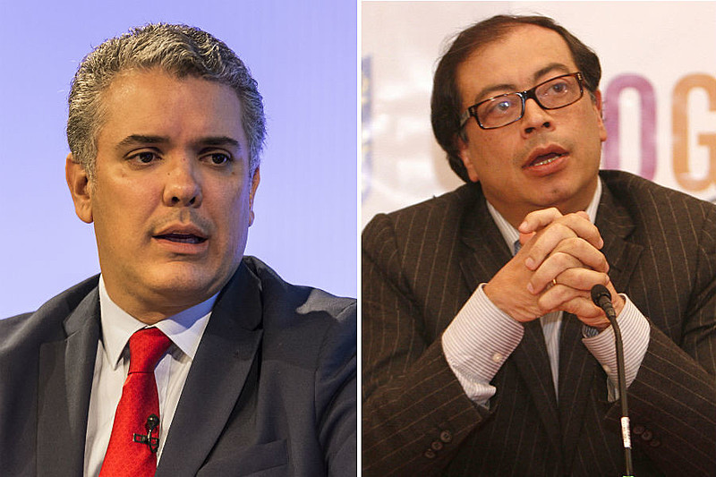 Iván Duque, candidato pelo partido Centro Democrático, baseou sua campanha em críticas ao acordo assinado pelo presidente Juan Manuel Santos
