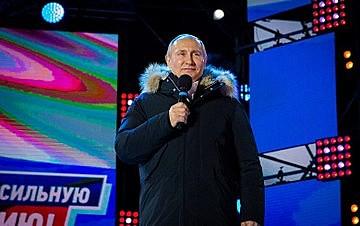 Putin obteve o apoio de 56,1 milhões de cidadãos, superando em 10,5 milhões os votos recebidos em 2012 (45,6 milhões)