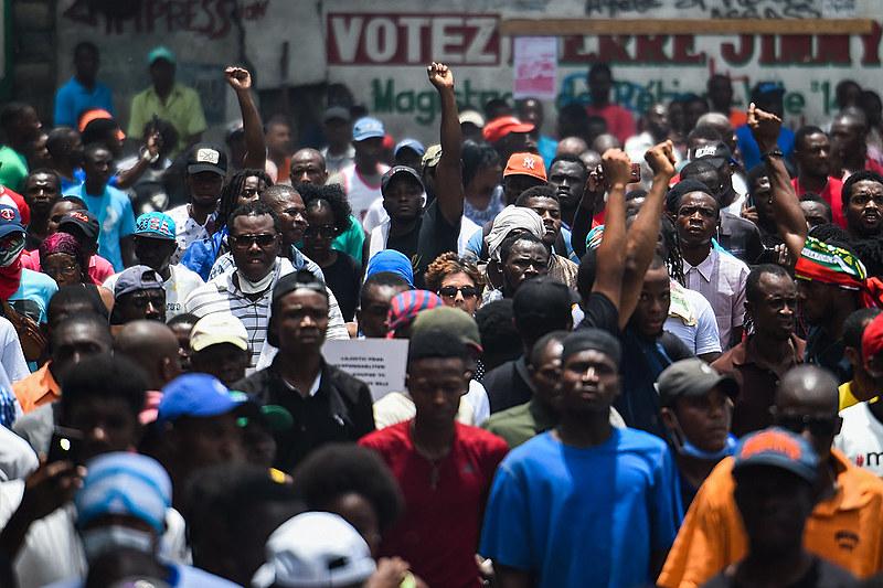 O Haiti atravessa uma grave crise social e política e viveu grandes protestos contra o presidente Jovenel Moïse desde 2018