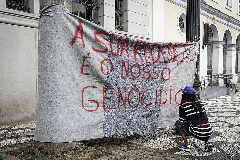 Manifestação contra truculência policial realizada na Cracolândia, em São Paulo
