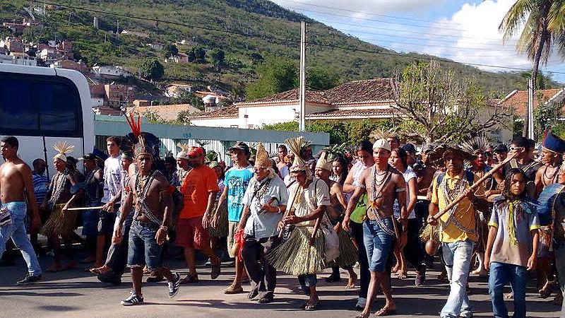 Xukurus do Ororubá, em Pesqueira, durante ato que marca sua assembleia anual
