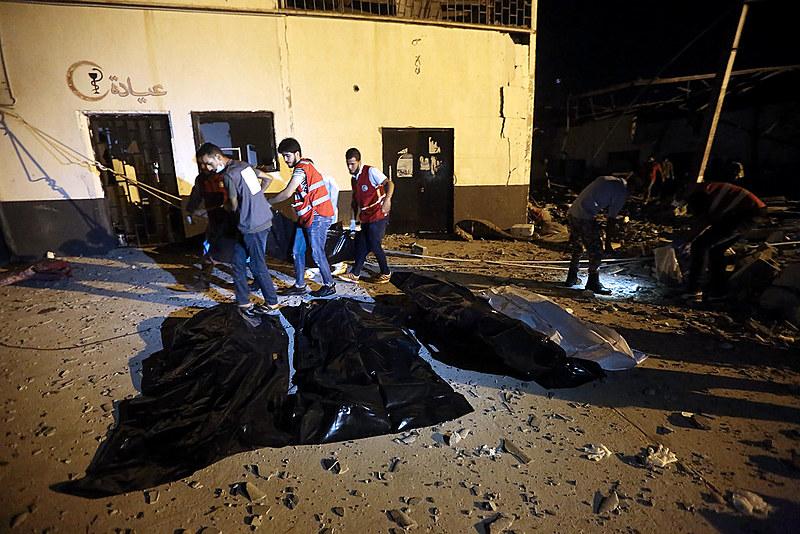 O enviado das nações Unidas na Líbia, Gassan Saleme, qualificou o ataque comoum crime de guerra
