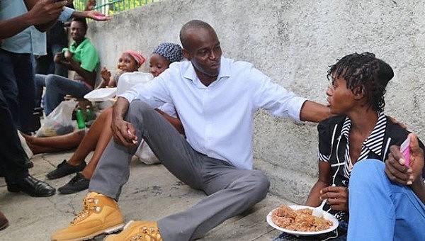 Jovenel Moise durante campanha presidencial