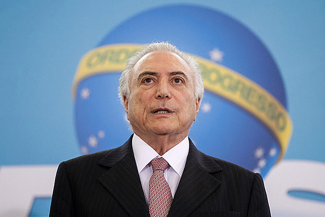 Michel Temer es primer presidente brasileño acusado por un delito penal en pleno ejercicio del cargo