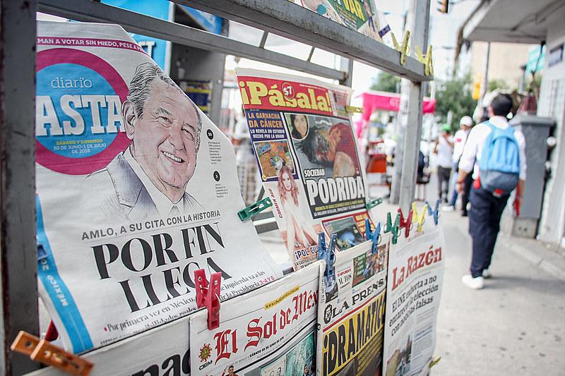 Candidato da esquerda, López Obrador lidera pesquisas eleitorais com vantagem de 20 pontos à frente do segundo colocado