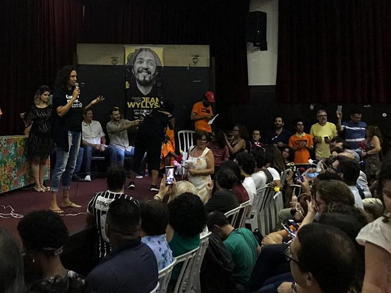 Ato público em apoio ao deputado federal pelo PSol Jean Wyllys