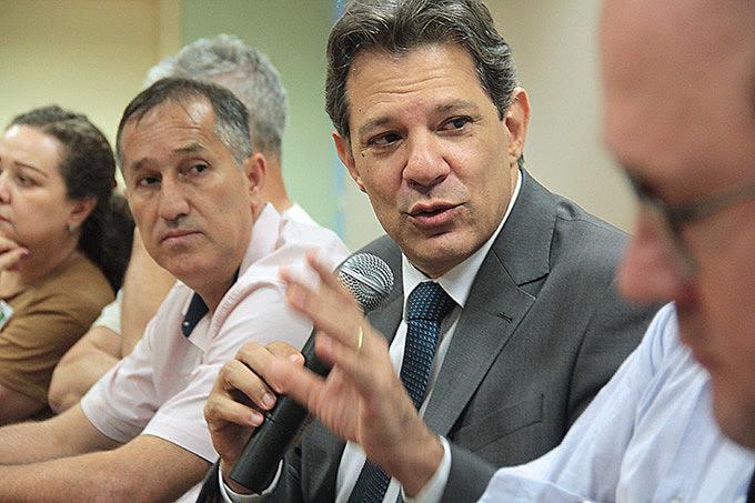 Haddad participou de atividade do setor de educação da CUT-RS