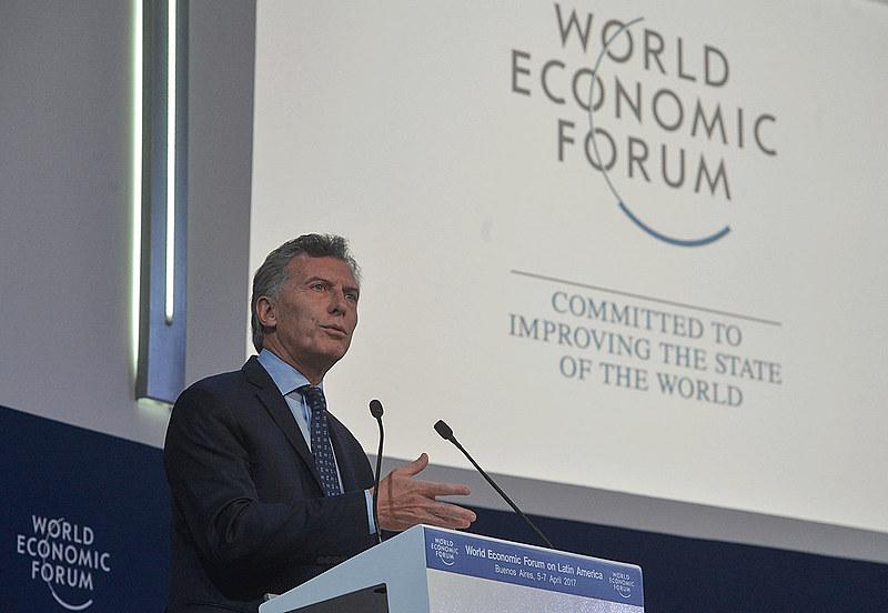 Presidente Maurício Macri participa do Fórum Econômico Mundial, em abril