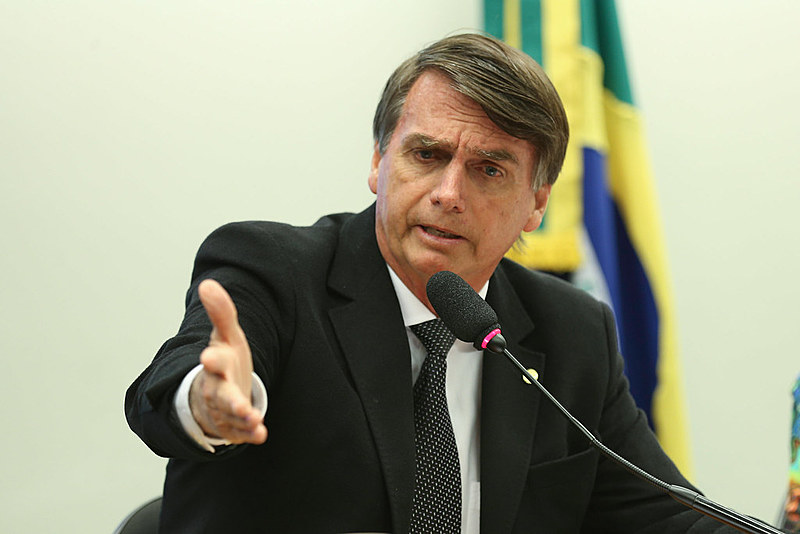 O deputado federal Jair Bolsonaro é conhecido por declarações racistas e homofóbicas