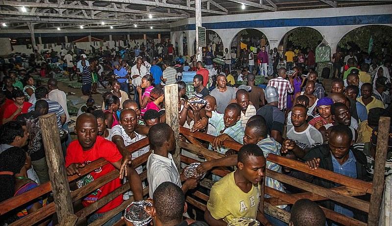 Imigrantes no Acre durante auge da chegada de haitianos, em 2013
