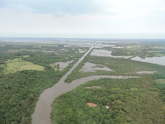 Vista aérea da bacia do Rio Gravataí