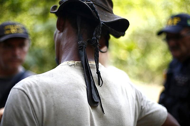 Trabalhador resgatado em fazenda no estado do Amazonas em março deste ano