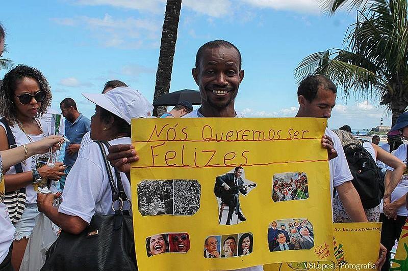 Ato da Luta Antimanicomial realizado em Salvador em 2019.