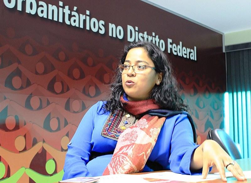 Fabíola Latino Antezana, diretora do Sindicato dos Urbanitários no Distrito Federal (STIU-DF)