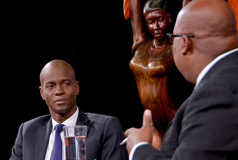 Jovenel Moise em entrevista para TV haitiana