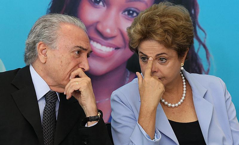 Dilma Rousseff (PT) e Michel Temer (PMDB)