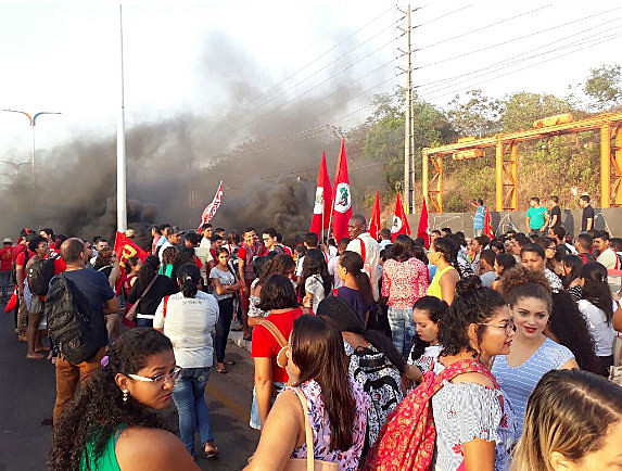 Demonstrators gather in Brazil protesting