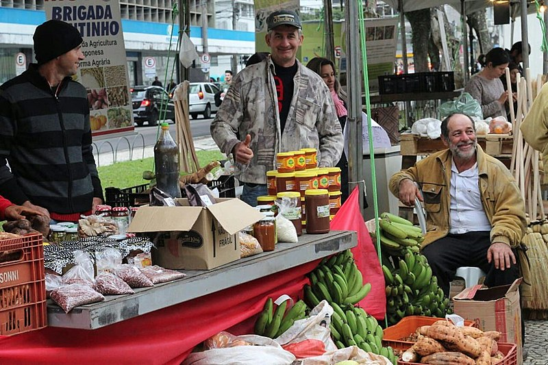 População pode consumir produtos agroecológicos na Feira realizada na praça Santos Andrade, das 8h às 21h