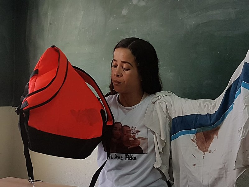 Bruna Silva, mãe de Marcus Vinícius, assassinado em operação policial na Favela da Maré em junho deste ano