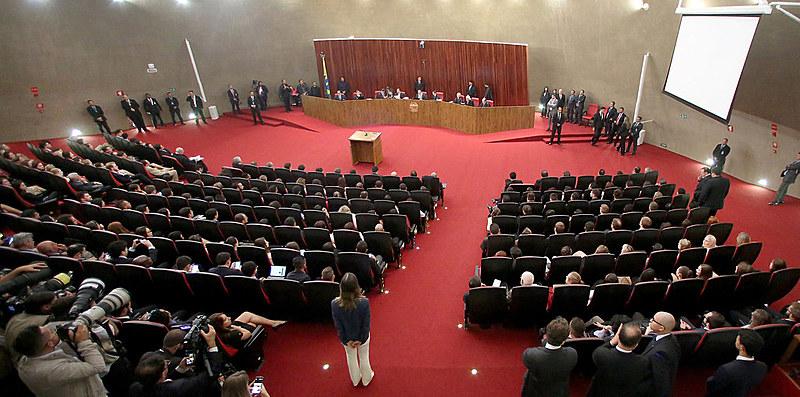 Durante julgamento da chapa Dilma Temer, Ministro Herman Benjamin faz leitura de seu relatório durante sessão plenária do TSE