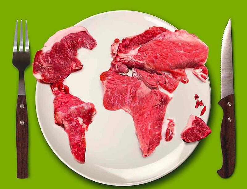 """Este ano a Fundação Heinrich Böll lançou a publicação """"Atlas da Carne: fatos e números sobre os animais que comemos"""""""