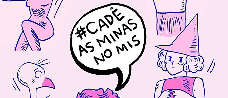 Predominância masculina na exposição motivou a campanha #CadêAsMinasNoMIS