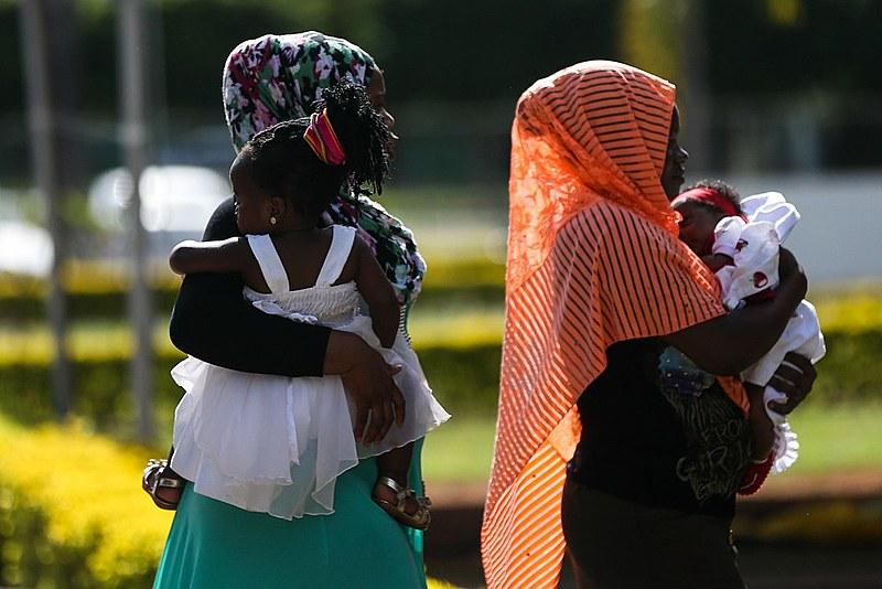 """Encontro """"Crianças sem Fronteiras"""", que reuniu imigrantes e refugiados para um dia de lazer e confraternização em Brasília, em março"""
