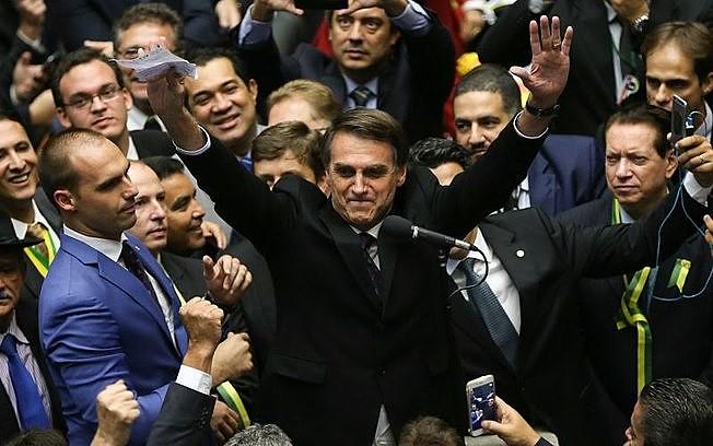 Deputado Jair Bolsonaro, durante votação do impeachment de Dilma Rousseff