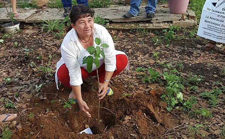 A paraguaia Petrona Talavera perdeu um filho e teve toda sua família contaminada pelos agrotóxicos