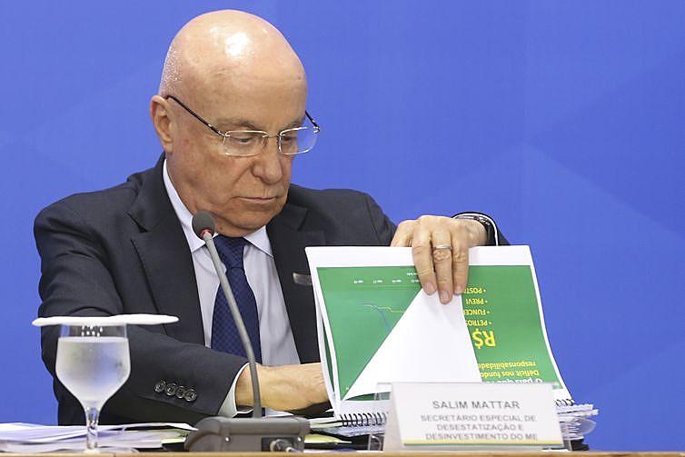 Segundo o secretário de Desestatizações, Salim Mattar, o governo pretende arrecadar R$ 150 bilhões com privatizações neste ano