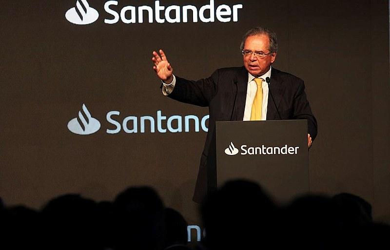 O ministro Paulo Guedes fala para banqueiros em agosto: unidade em torno da agenda econômica neoliberal