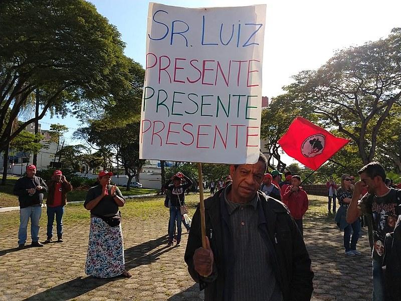 Luis foi atropelado enquanto participava de manifestação pacífica pelo fornecimento de água no acampamento onde morava