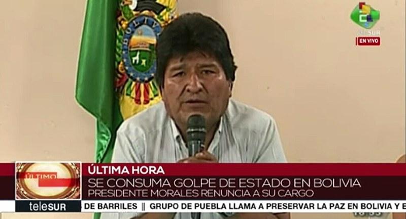 """""""Domingo, 10 de novembro, se decreta um golpe de Estado na Bolívia"""""""