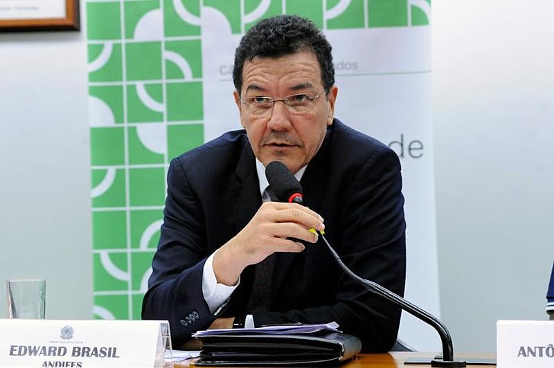 Vice-presidente da Andifes, Edward Madureira Brasil, em audiência pública na Comissão de Educação da Câmara dos Deputados
