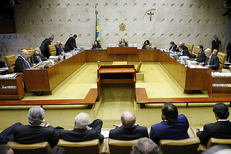Supreme Court session last Wednesday (4), when Brazil's top court ruled on ex-president Lula's petition