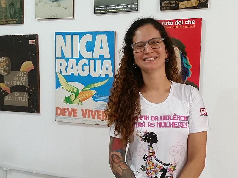 Anacélie é sindicalista e militante da Marcha Mundial das Mulheres