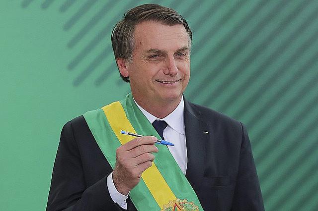 Brazilian president Jair Bolsonaro took office on Jan. 1, 2019