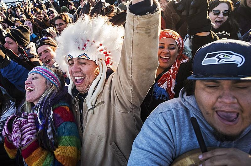 Celebrações em  Dakota do Norte diante dos anúncios