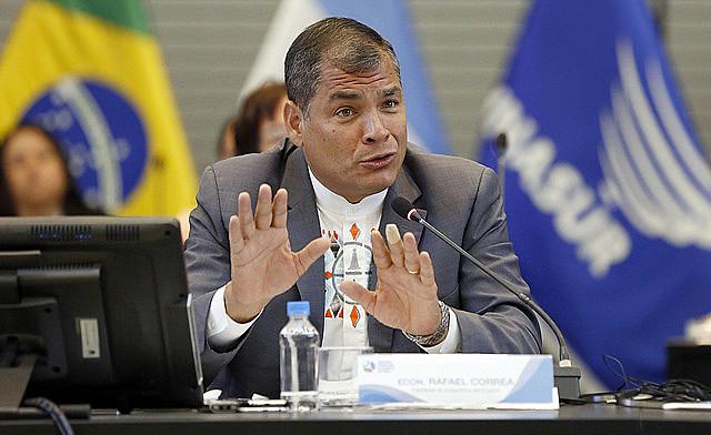 Rafael Correa foi presidente do Equador de 2007 a 2017